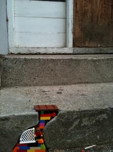 Farverige byggeklodser